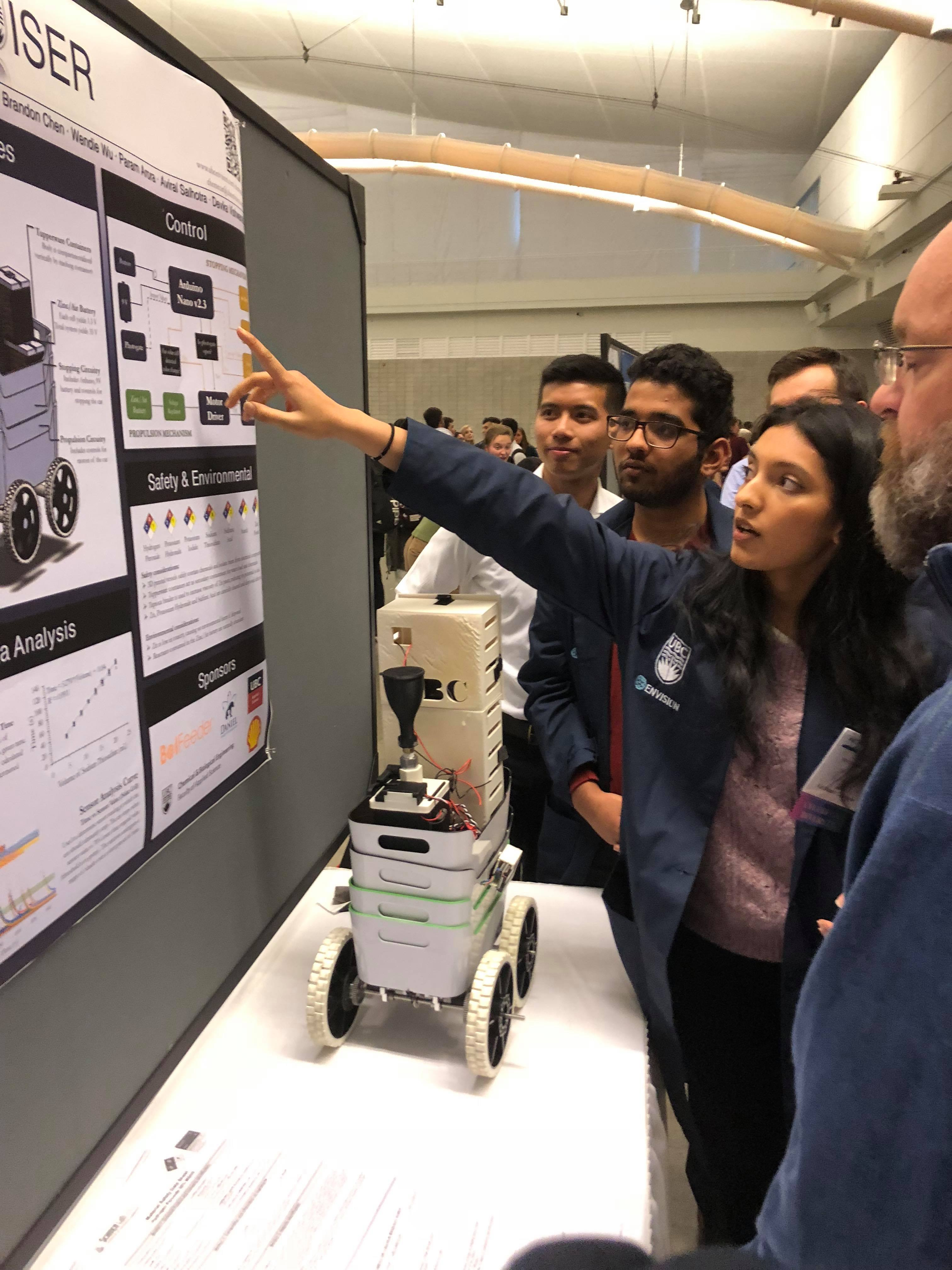 UBC wins first place in Chem-E-Car Poster Competiton 2018